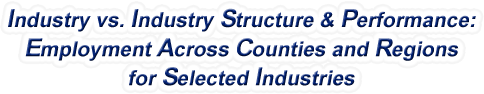 Arizona - Industry vs. Industry Structure & Performance: Employment Across Counties and Regions for Selected Industries